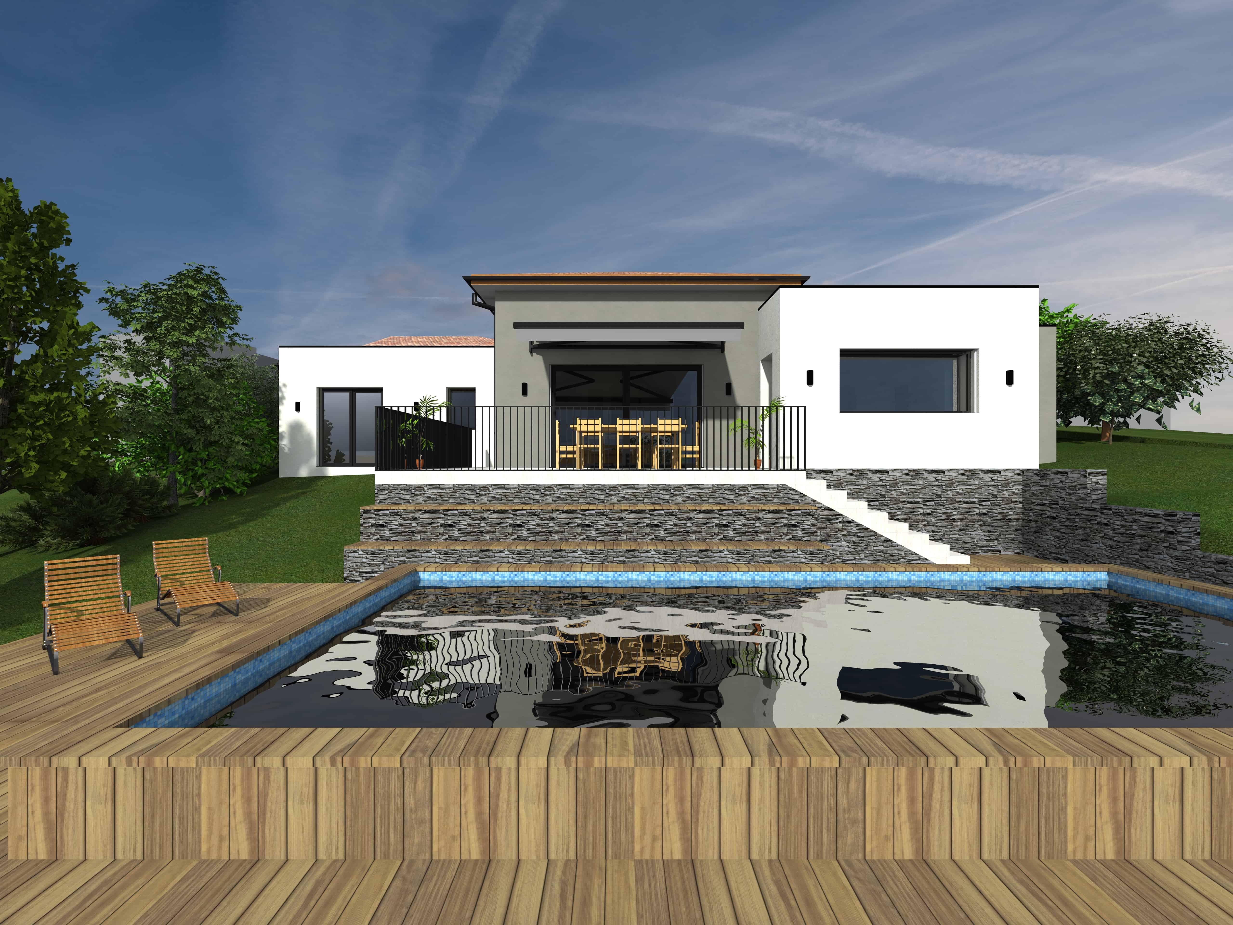 Maison interindividuelle contemporaine justin fargier architecte